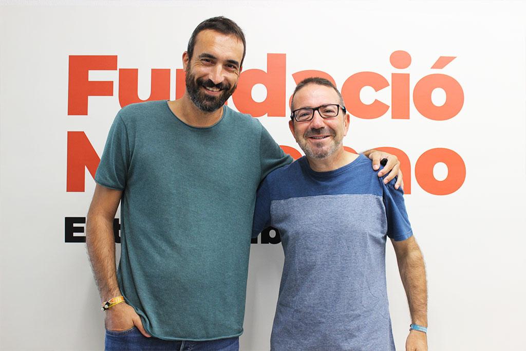 Daniel Osiàs i Josep Torrico a la Fundació Marianao