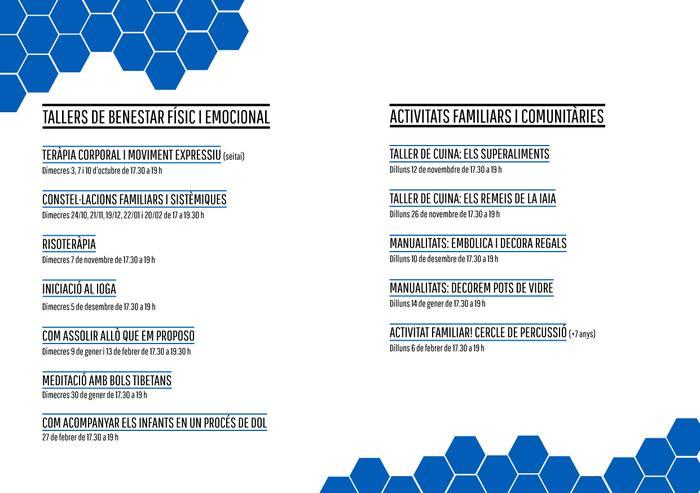 Programació de tallers del SOAF Marianao