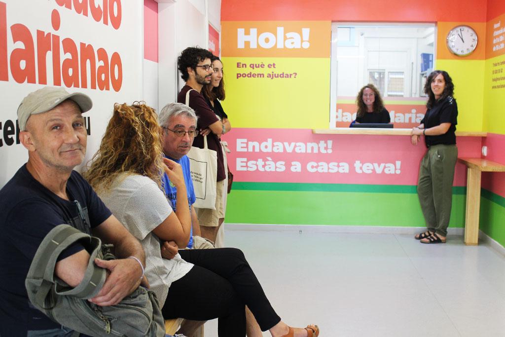 Vestíbul i recepció de la Fundació Marianao